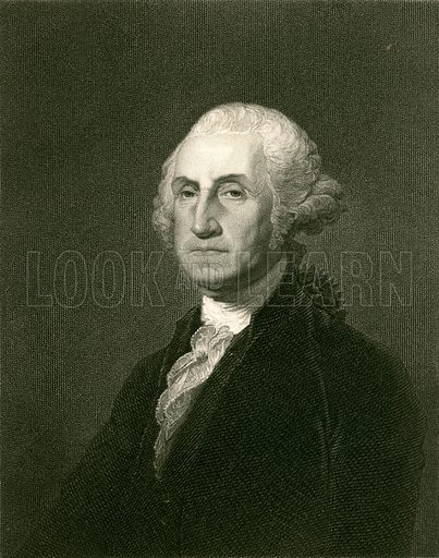 George Washington. Illustration from The Gallery of Portraits (Charles Knight, 1836).