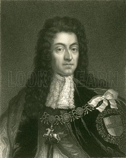 William III. Illustration from The Gallery of Portraits (Charles Knight, 1836).