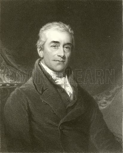 Sir Samuel Romilly. Illustration from The Gallery of Portraits (Charles Knight, 1836).