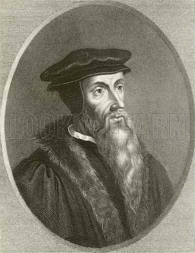 John Calvin. Illustration from The Gallery of Portraits (Charles Knight, 1836).
