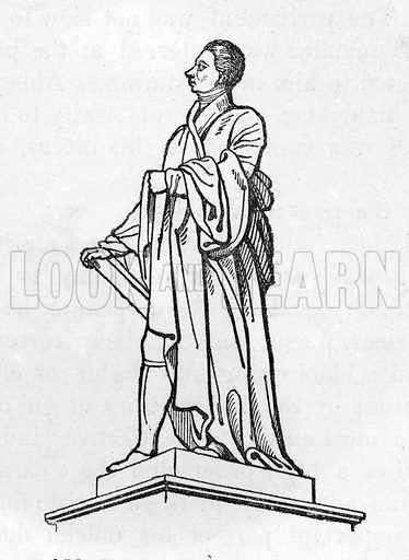 Statue of Mr Pitt by Chantrey in Hanover Square. Illustration from The Gallery of Portraits (Charles Knight, 1836).