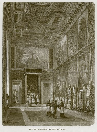The Throne-Room at the Vatican. Illustration for Rome by Francis Wey (Chapman and Hall, 1875).