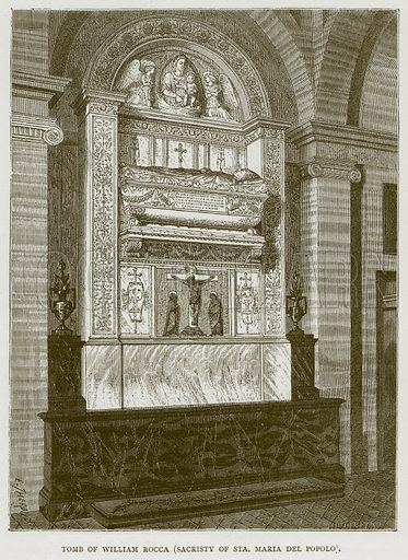 Tomb of William Rocca (Sacristy of Sta. Maria del Popolo). Illustration for Rome by Francis Wey (Chapman and Hall, 1875).