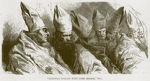'Oriental Bishops with Long Beards,' Etc. Illustration for Rome by Francis Wey (Chapman and Hall, 1875).