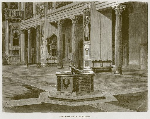 Interior of S Prassede. Illustration for Rome by Francis Wey (Chapman and Hall, 1875).