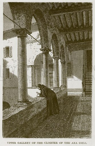Upper Gallery of the Cloister of the Ara Coeli. Illustration for Rome by Francis Wey (Chapman and Hall, 1875).