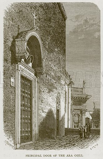 Principal Door of the Ara Coeli. Illustration for Rome by Francis Wey (Chapman and Hall, 1875).