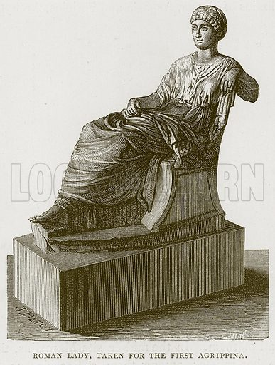 Roman Lady, taken for the First Agrippina. Illustration for Rome by Francis Wey (Chapman and Hall, 1875).