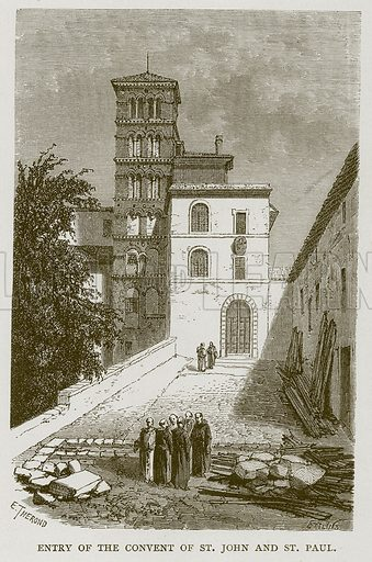 Entry of the Convent of St John and St Paul. Illustration for Rome by Francis Wey (Chapman and Hall, 1875).