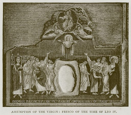 Assumption of the Virgin: Fresco of the Time of Leo IV. Illustration for Rome by Francis Wey (Chapman and Hall, 1875).