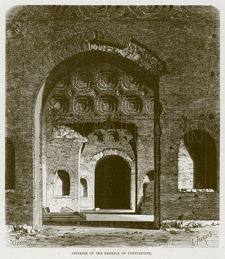 Interior of the Basilica of Constantine. Illustration for Rome by Francis Wey (Chapman and Hall, 1875).