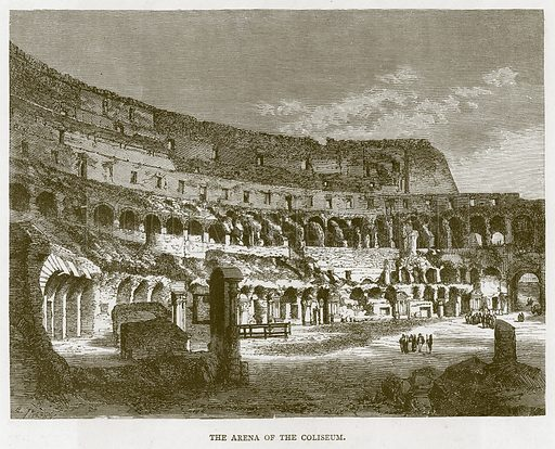 The Arena of the Coliseum. Illustration for Rome by Francis Wey (Chapman and Hall, 1875).