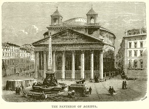 The Pantheon of Agrippa. Illustration for Rome by Francis Wey (Chapman and Hall, 1875).
