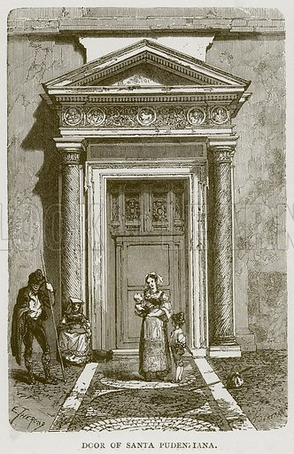 Door of Santa Pudentiana. Illustration for Rome by Francis Wey (Chapman and Hall, 1875).