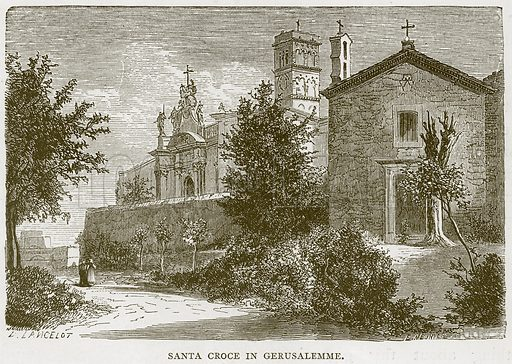 Santa Croce in Gerusalemme. Illustration for Rome by Francis Wey (Chapman and Hall, 1875).