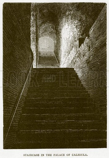 Staircase in the Palace of Caligula. Illustration for Rome by Francis Wey (Chapman and Hall, 1875).
