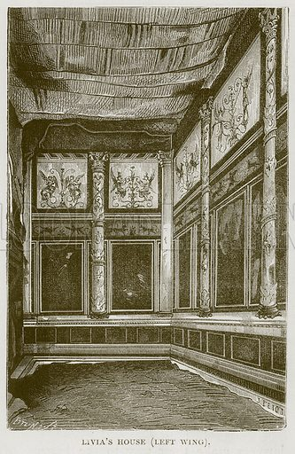 Livia's House (Leet Wing). Illustration for Rome by Francis Wey (Chapman and Hall, 1875).