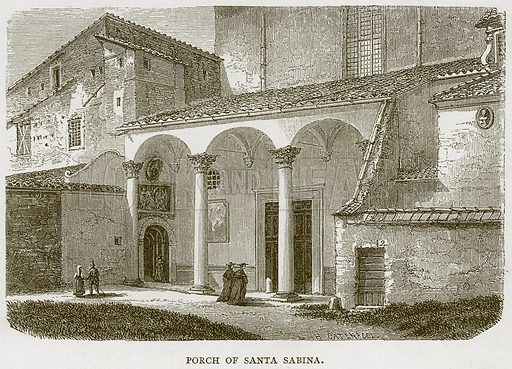 Porch of Santa Sabina. Illustration for Rome by Francis Wey (Chapman and Hall, 1875).