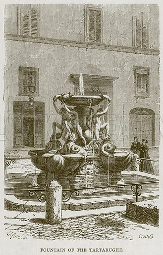 Fountain of the Tartarughe. Illustration for Rome by Francis Wey (Chapman and Hall, 1875).