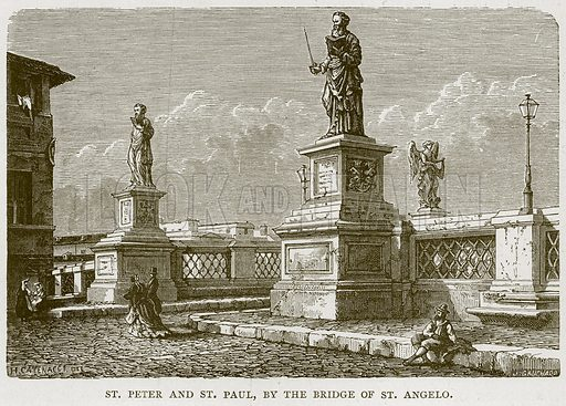 St Peter and St Paul, by the Bridge of St Angelo. Illustration for Rome by Francis Wey (Chapman and Hall, 1875).