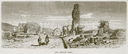 The Appian Way. Illustration for Rome by Francis Wey (Chapman and Hall, 1875).