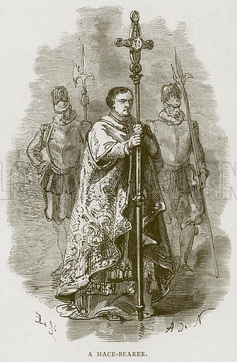 A Mace-Bearer. Illustration for Rome by Francis Wey (Chapman and Hall, 1875).