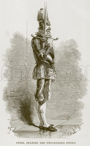 Swiss, Bearing the Two-Handed Sword. Illustration for Rome by Francis Wey (Chapman and Hall, 1875).