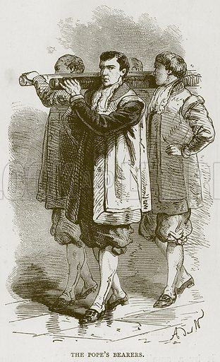 The Pope's Bearers. Illustration for Rome by Francis Wey (Chapman and Hall, 1875).