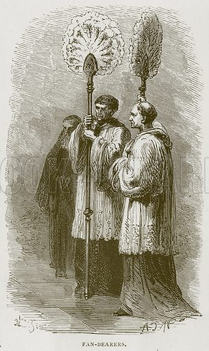 Fan-Bearers. Illustration for Rome by Francis Wey (Chapman and Hall, 1875).