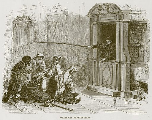 Ordinary Penitentiary. Illustration for Rome by Francis Wey (Chapman and Hall, 1875).