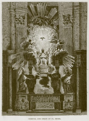 Tribuna and Chair of St. Peter. Illustration for Rome by Francis Wey (Chapman and Hall, 1875).