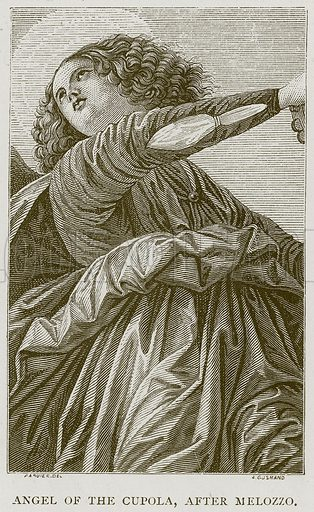 Angel of the Cupola, after Melozzo. Illustration for Rome by Francis Wey (Chapman and Hall, 1875).