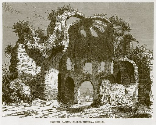 Ancient Casino, Called Minerva Medica. Illustration for Rome by Francis Wey (Chapman and Hall, 1875).