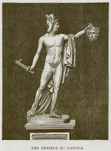 The Perseus of Canova. Illustration for Rome by Francis Wey (Chapman and Hall, 1875).