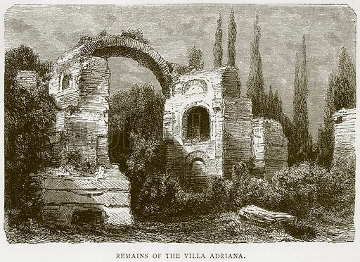 Remains of the Villa Adriana. Illustration for Rome by Francis Wey (Chapman and Hall, 1875).