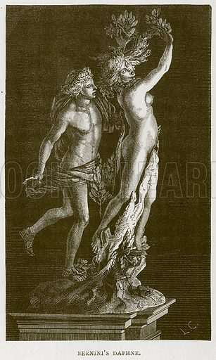 Bernini's Daphne. Illustration for Rome by Francis Wey (Chapman and Hall, 1875).