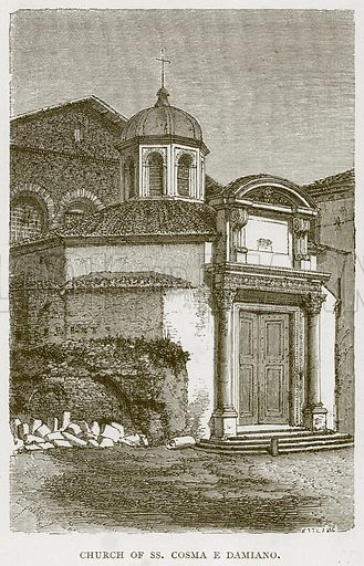Church of Ss. Cosma E Damiano. Illustration for Rome by Francis Wey (Chapman and Hall, 1875).