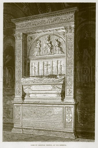 Tomb of Cardinal Ferrici, at the Minerva. Illustration for Rome by Francis Wey (Chapman and Hall, 1875).