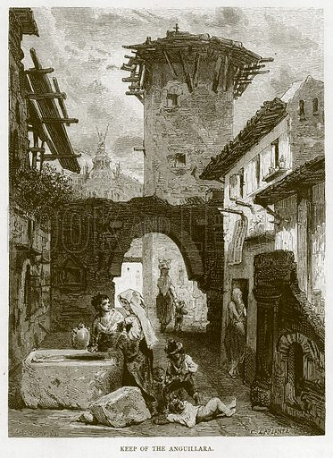 Keep of the Anguillara. Illustration for Rome by Francis Wey (Chapman and Hall, 1875).