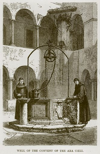 Well of the Convent of the Ara Coeli. Illustration for Rome by Francis Wey (Chapman and Hall, 1875).
