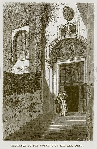 Entrance to the Convent of the Ara Coeli. Illustration for Rome by Francis Wey (Chapman and Hall, 1875).