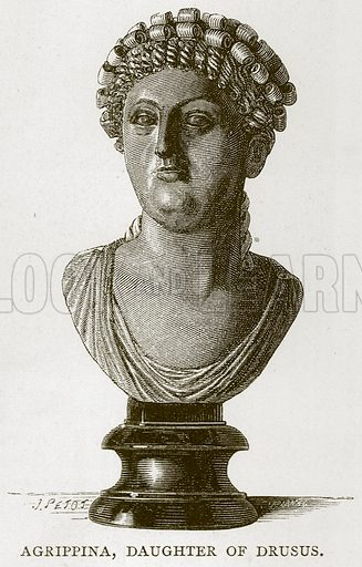 Agrippina, Daughter of Drusus. Illustration for Rome by Francis Wey (Chapman and Hall, 1875).