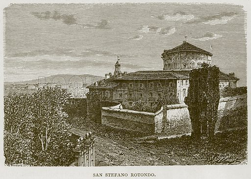 San Stefano Rotondo. Illustration for Rome by Francis Wey (Chapman and Hall, 1875).