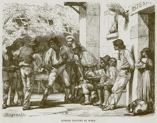 Romans Playing at Mora. Illustration for Rome by Francis Wey (Chapman and Hall, 1875).