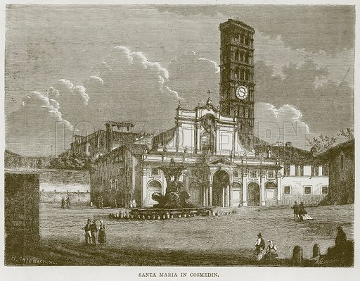 Santa Maria in Cosmedin. Illustration for Rome by Francis Wey (Chapman and Hall, 1875).
