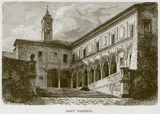 Sant' Onofrio. Illustration for Rome by Francis Wey (Chapman and Hall, 1875).