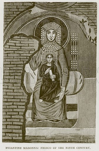 Byzantine Madonna: Fresco of the Ninth Century. Illustration for Rome by Francis Wey (Chapman and Hall, 1875).