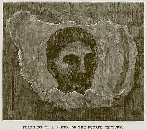 Fragment of a Fresco of the Fourth Century. Illustration for Rome by Francis Wey (Chapman and Hall, 1875).