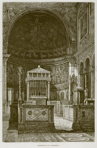 Interior of St Clement's. Illustration for Rome by Francis Wey (Chapman and Hall, 1875).