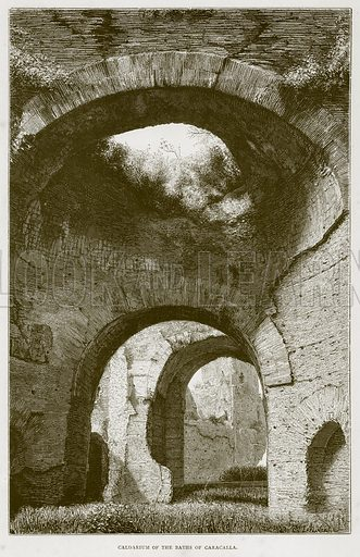 Caldarium of the Baths of Caracalla. Illustration for Rome by Francis Wey (Chapman and Hall, 1875).
